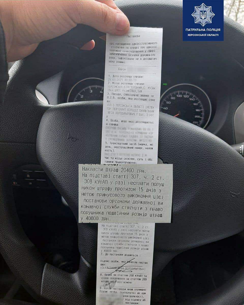 Украинец получил штраф, который в разы превышает стоимость его автомобиля 2