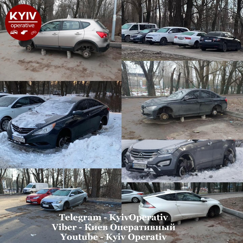 Автомобилистам столицы стоит быть внимательнее: в Киеве активно воруют автомобильные покрышки 1