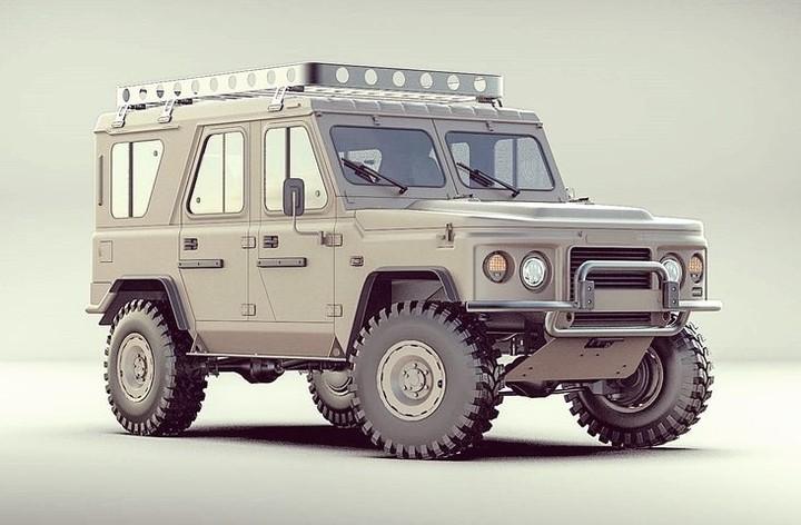 Украинские дизайнеры представили свое видение нового армейского внедорожника 1