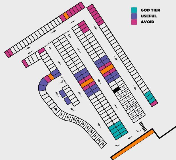 Самые удобные места для парковки на стоянке супермаркета 1