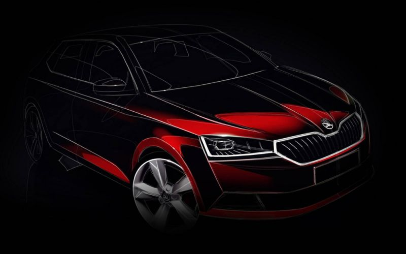 В сети показали первые рендеры универсала Skoda Fabia Combi нового поколения 2