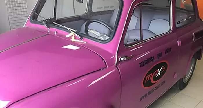В Украине продают розовый Запорожец за бешеные деньги 2