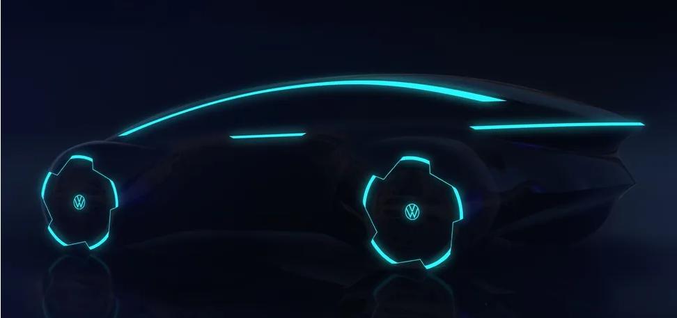 Volkswagen показал электрический флагман Project Trinity на тизере 1