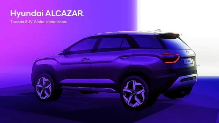 Hyundai показал новый семиместный кроссовер Alcazar на фото 1