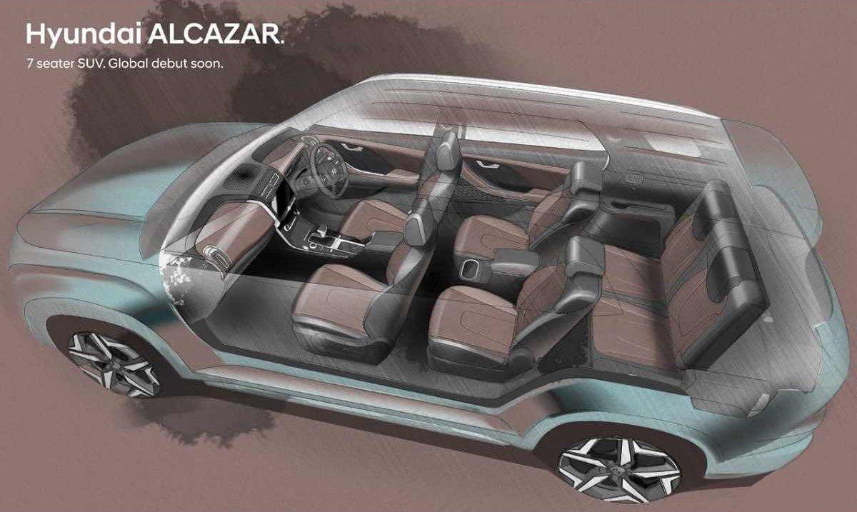 Hyundai показал новый семиместный кроссовер Alcazar на фото 2