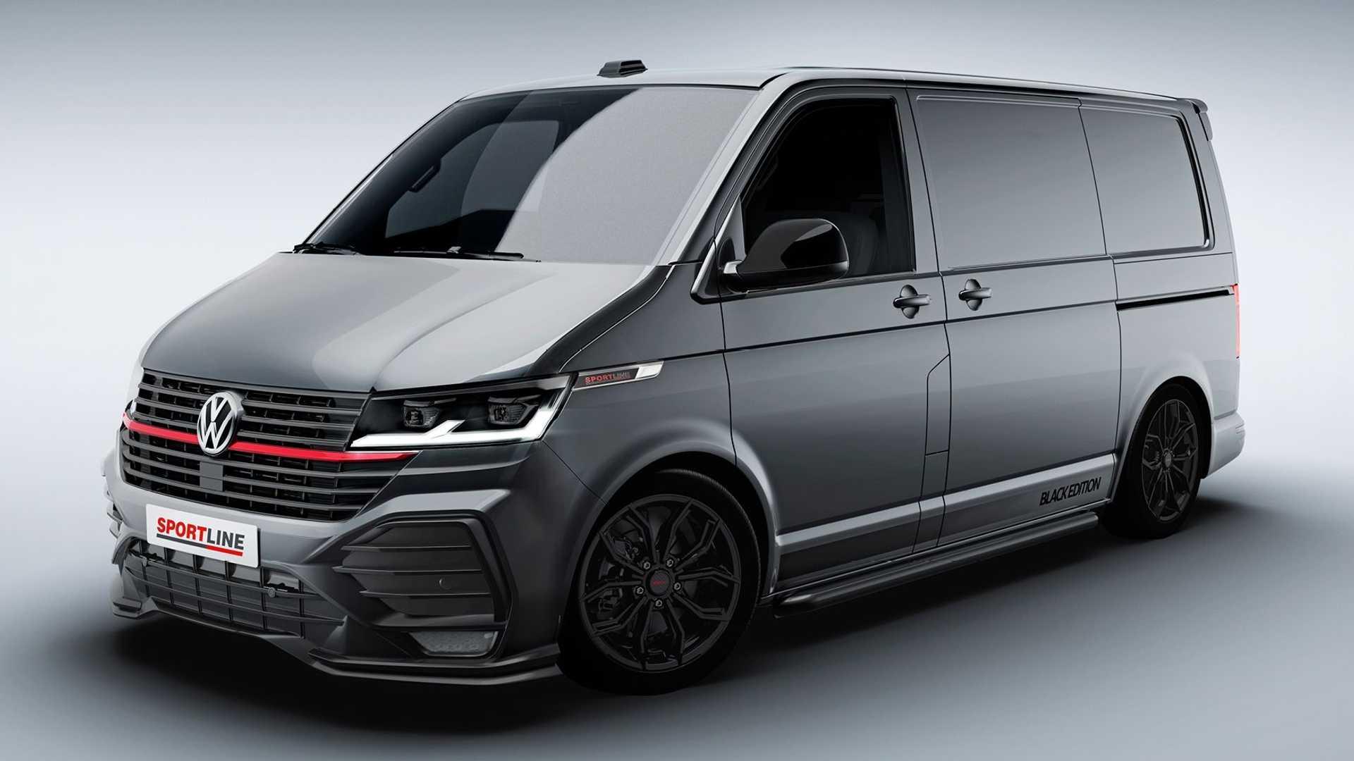 Volkswagen презентовал спортивный фургон TransporterSportline 1
