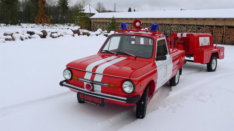 В сети показали уникальный пожарный«Запорожец» 2