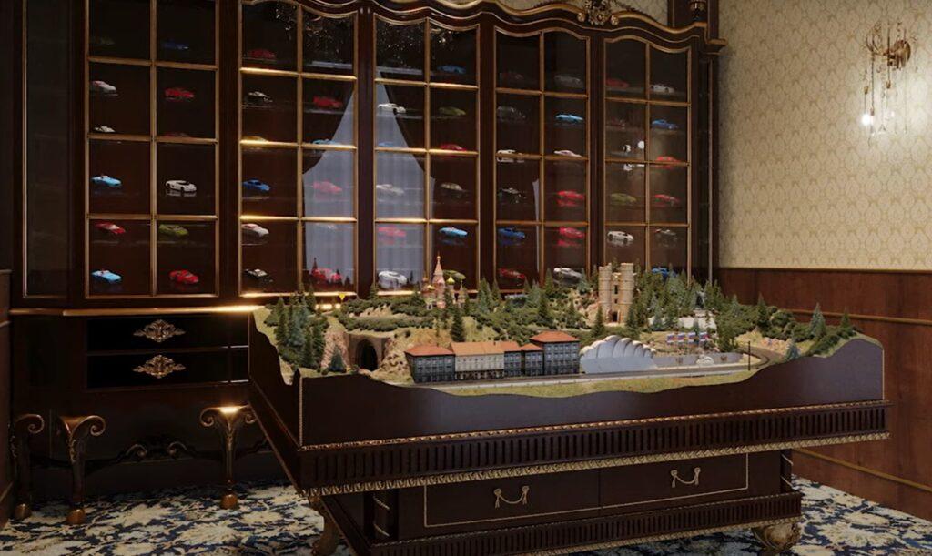 Комната с игрушечными машинками во дворце Путина (фото) 3