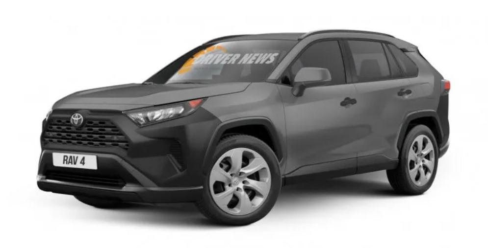 Бюджетная Toyota RAV4: колпаки и неокрашенные бамперы 1