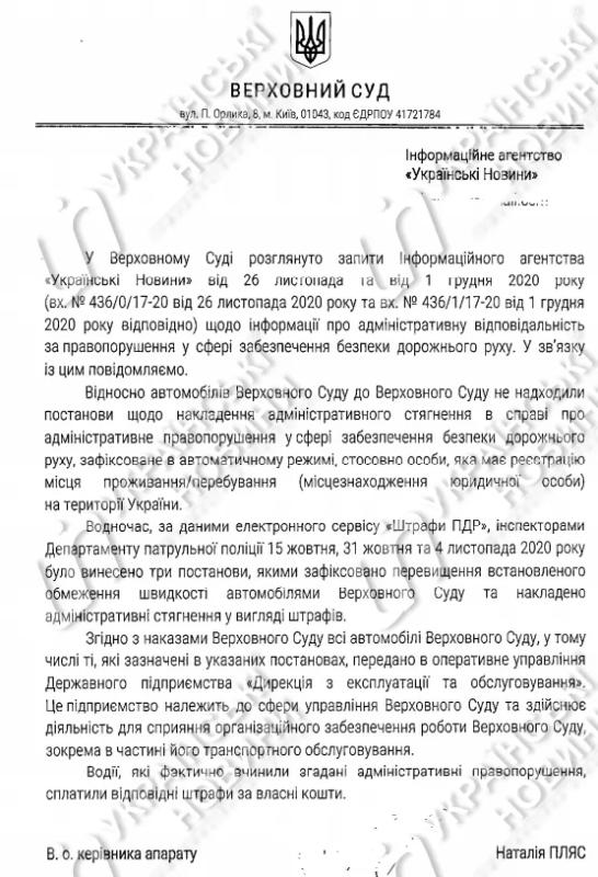 Автомобили Верховной Рады и Конституционного суда нарушают скоростной режим: штрафы уже уплатили 1