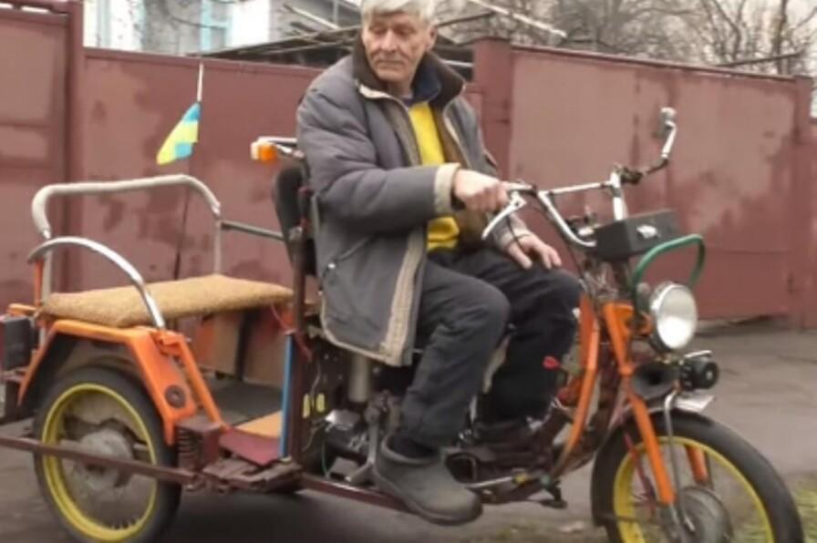 Украинец из подручных материалов собрал мотовездеход 1