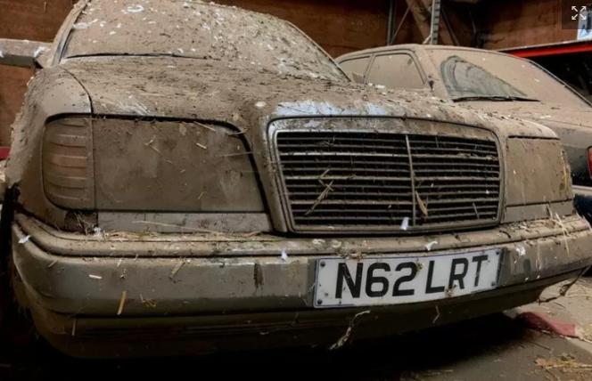 Забытые автомобили Mercedes обнаружили в старом курятнике: плачевный вид 1