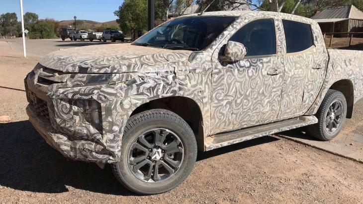 Обновлённый Mitsubishi Triton «попался» на тестах 1