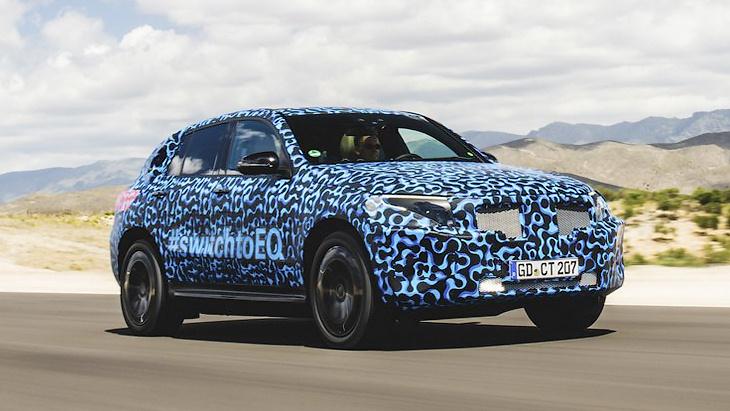 Компания Mercedes-Benz отчиталась об испытаниях электрокроссовера 1