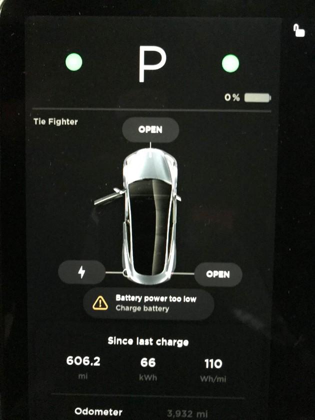 Tesla Model 3 проехала 1000 км на одном заряде и «умерла» 2