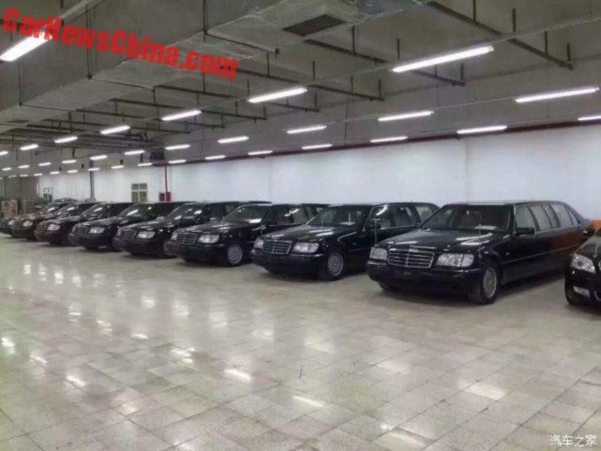 Китайские власти выставили на торги 8 лимузинов W140 Mercedes-Benz Pullman 1