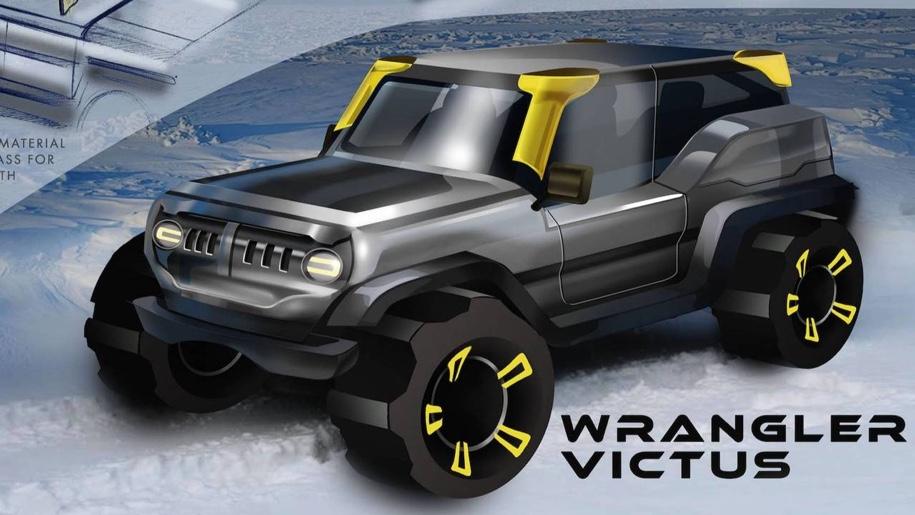 Школьники нарисовали внедорожник Jeep 2030 года выпуска 2