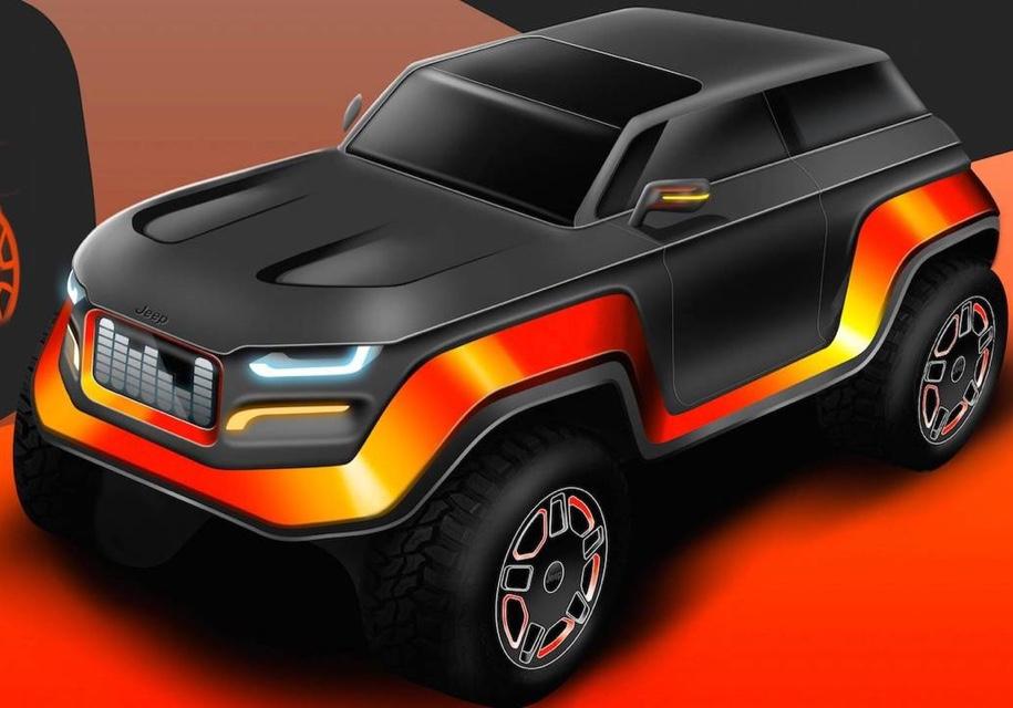 Школьники нарисовали внедорожник Jeep 2030 года выпуска 1