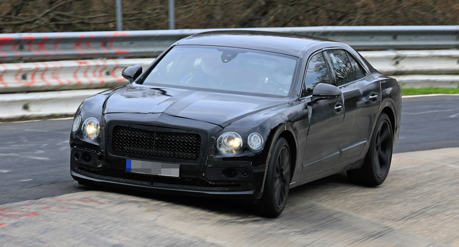 Седан Bentley Flying Spur покоряет Нюрбургринг 3
