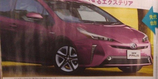 Изображения Toyota Prius 2019 «просочились» в Сеть 1