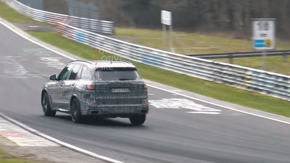 Новый BMW X5 колесит по Нюрбургрингу 2
