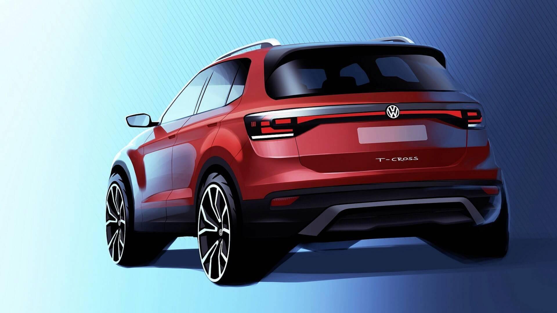 Volkswagen продемонстрировал первое изображение нового кроссовера 1