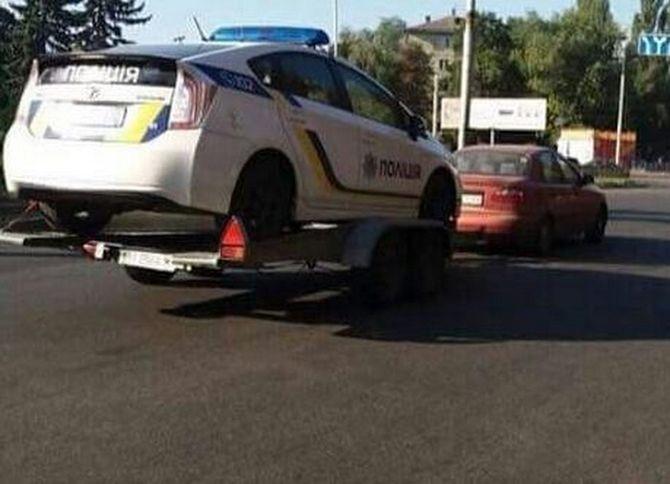 Автопарк патрульной полиции пополнили нерастаможенным Ланосом? 1