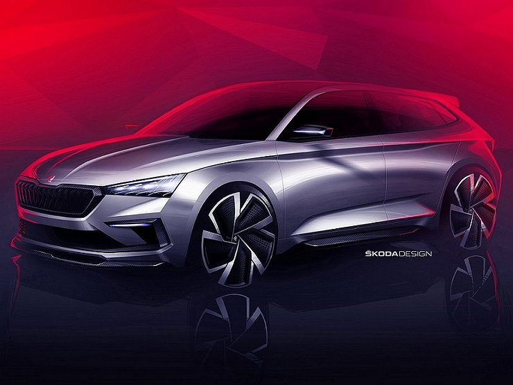 Skoda рассекретила «горячий» концепт Vision RS 1