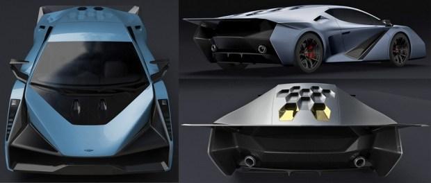 Бывший дизайнер Мазды придумал суперкар Salaff C2 1