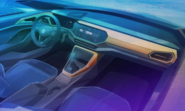 Volkswagen раскрыл интерьер родственного Polo кроссовера 1