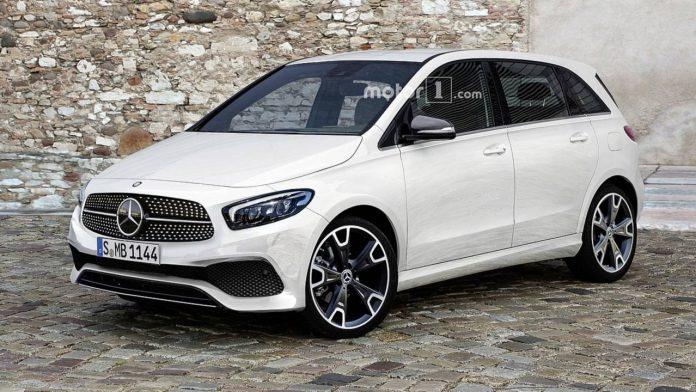 Опубликован рендер нового Mercedes B-Class 1