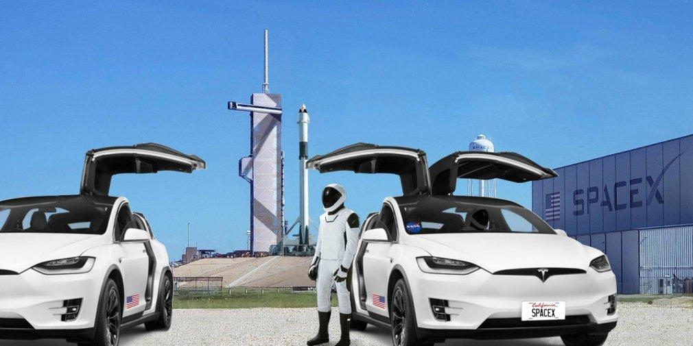Электрокары Tesla привезут космонавтов на стартовую площадку к МКС 1