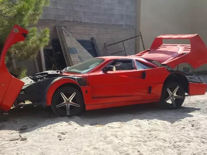 Старенький седан Nissan превратили в Ferrari F40 1