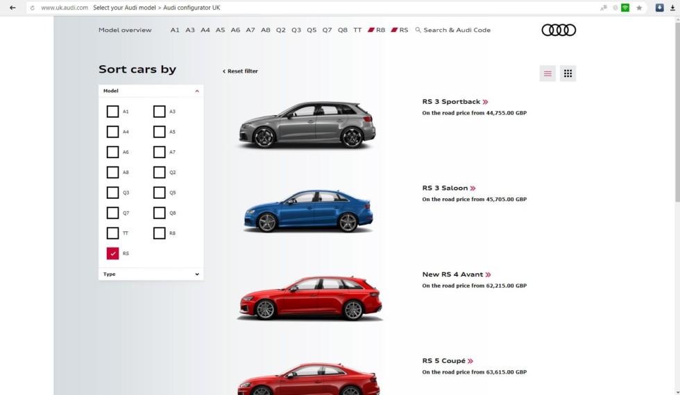 Volkswagen Group приостановил производство Audi RS 3 2