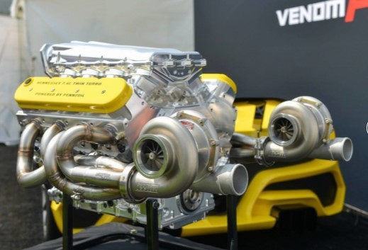 Hennessey опубликовала характеристики и фотографии 1600-сильного двигателя Venom F5 1