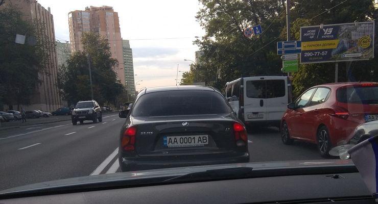 В Украине заметили ZAZ Sens с номерами по цене самого автомобиля 1