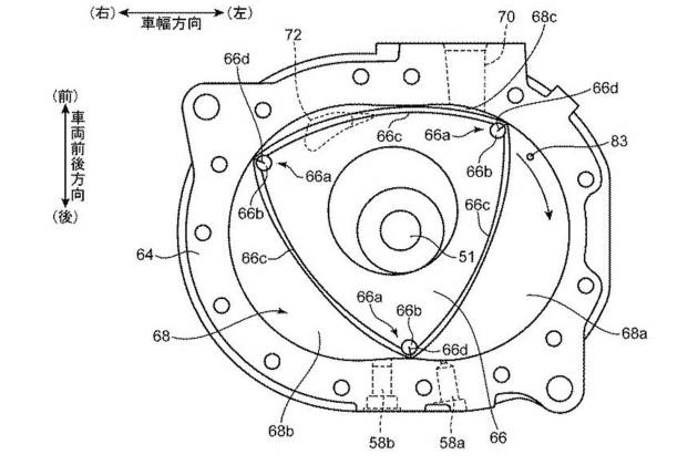 Mazda запатентовала роторный мотор для гибрида 3