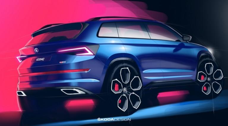 «Заряженный» Skoda Kodiaq RS получит самый мощный дизель и самые большие колёса 1