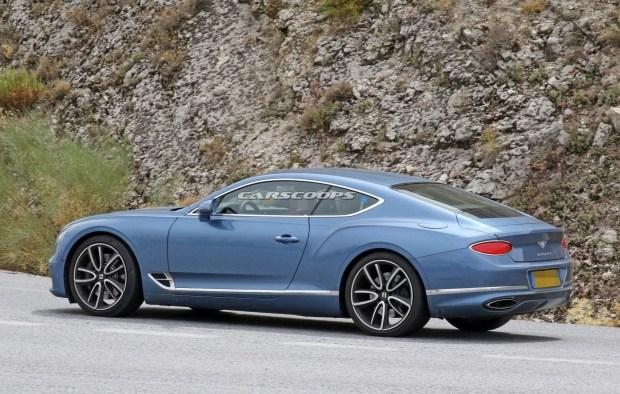 Гибридный Bentley Continental засветился первыми фото на тестах 2