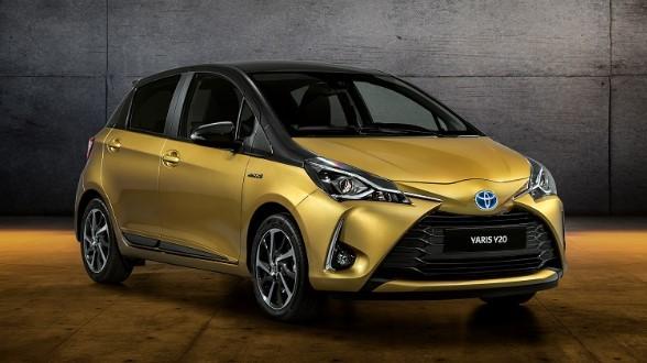Toyota презентовала золотой хэтчбек Yaris 1