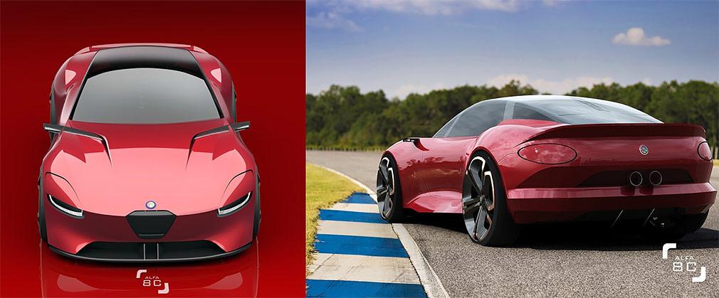 Из спорткара Alfa Romeo 8C сделали 800-сильный гибрид 1