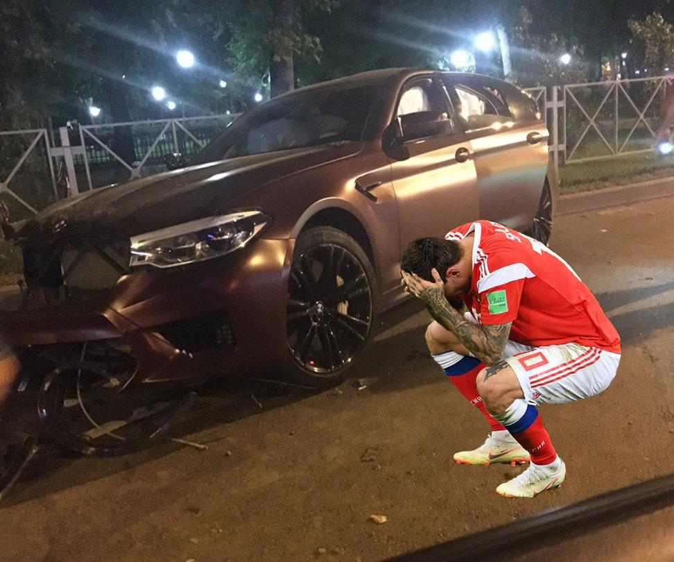 Российского футболиста, не забившего пенальти Хорватии, лишили водительских прав 1