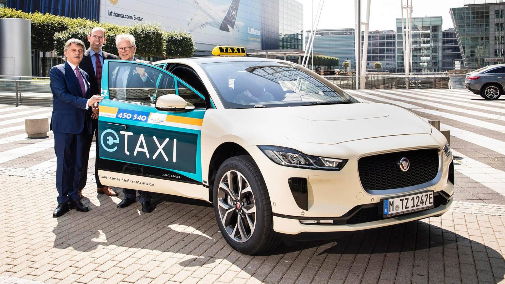 Электрокар Jaguar I-Pace стал автомобилем такси в Германии 1