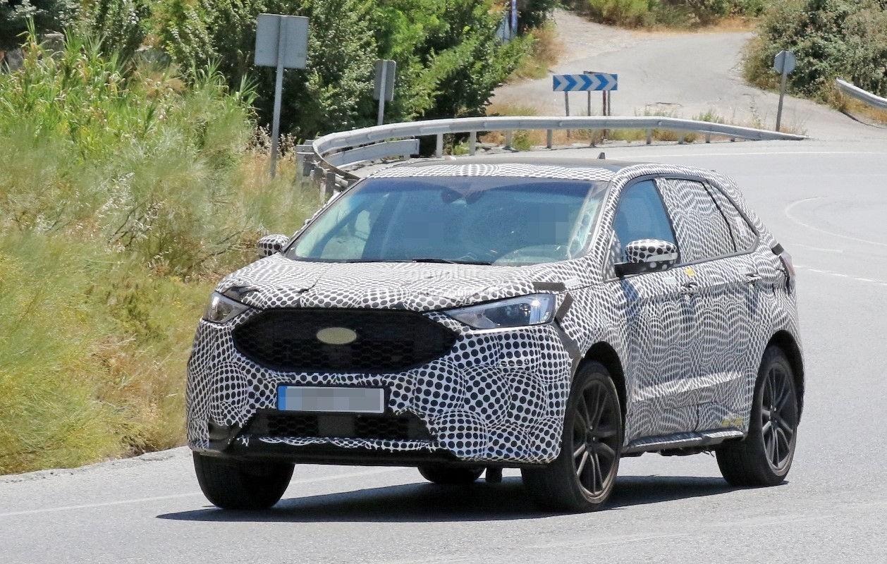 Европейский прототип 2019 Ford Edge выглядит незавершенным 1