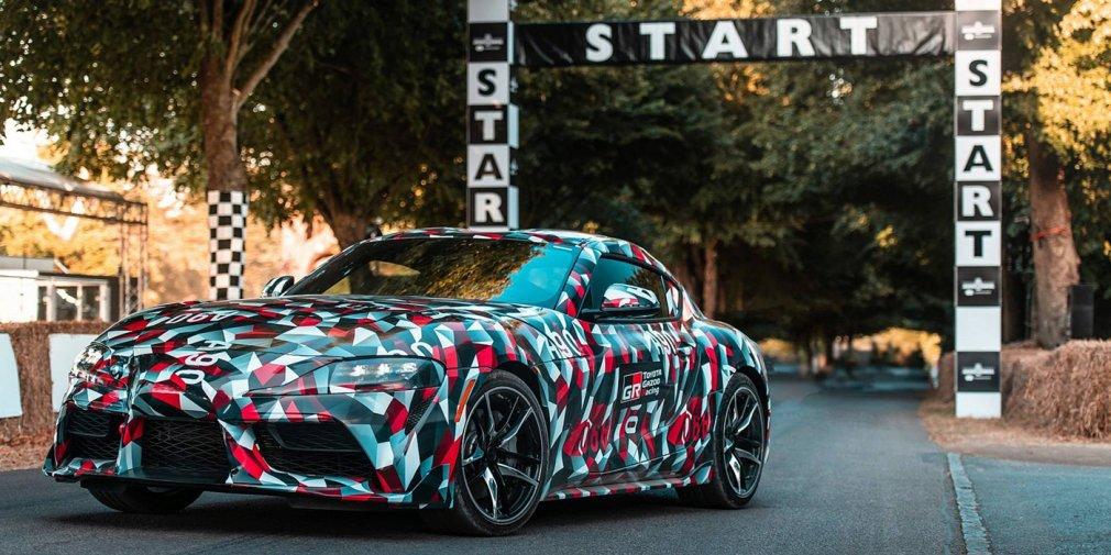 Возрожденная Toyota Supra получила камуфляж от военного линкора 1