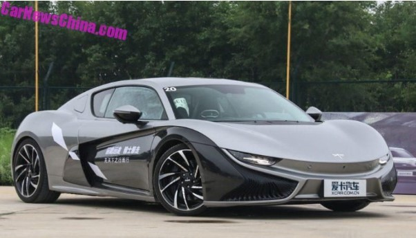 Китайцы создали электрический спорткар за 150 000 долларов 1