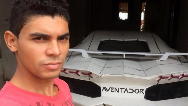 Из старого «Фиата» сделали сомнительное подобие Lamborghini 2