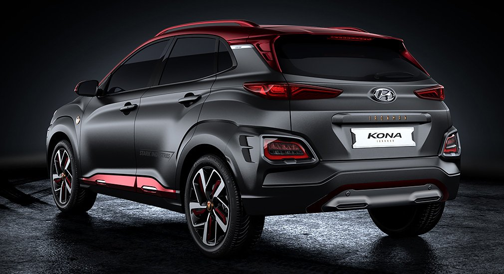 Спецверсию кроссовера Hyundai Kona посвятили Железному Человеку 2