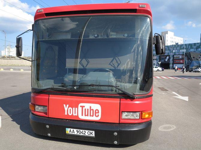 В Киеве замечен очень необычный автобус 1