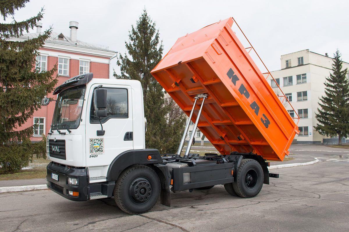 Cамосвал-зерновоз КрАЗ-5401С2 показали в действии 1